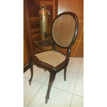 Cadeira Antiga Madeira Medalhão Palhinha Linda Somente Uma