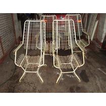 Cadeiras De Ferro Anos 60 Aramadas Tenho 4 Peças No Estado