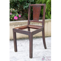 Cadeira Antiga Madeira Nobre