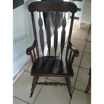 (only Wood) Cadeira De Balanço Muito Antiga Em Imbuia
