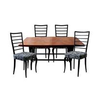 Conjunto De Mesa E 4 Cadeiras Para Sala De Jantar - Anos 50
