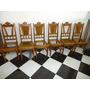 6 Cadeiras Antigasde Madeira Restauradas , Falta Estofamento