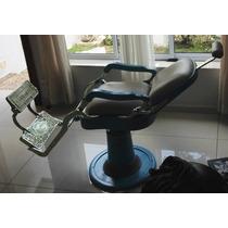 Cadeira Barbeiro Ferrante Antiga Como Nova Reformada