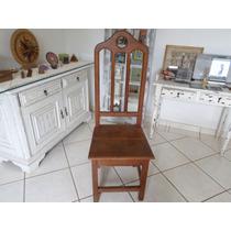 Cadeira Antiga Madeira Nobre Maciça