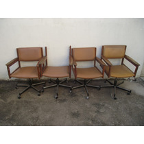 Antigo Conjunto De Cadeiras Sergio Rodrigues (cod.1327)