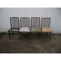 Antigo Conjunto De Cadeiras Dos Anos 50 (cod.1343)