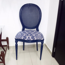Cadeira Medalhão Azul