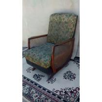 Cadeira De Balanço Antiga C/ Palhinha Antiquario Breshopping