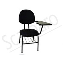 Cadeira Fixa Universitaria Com Gradil E Prancheta Modelo Exe