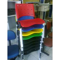 Cadeira De Escritório Em Base Fixa Coloridas