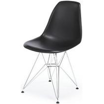 Jogo 4 Cadeiras Charles Eames Eiffel Base Aço, Frete Grátis