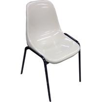 Cadeira Tipo Concha Plastica Com Estrutura Em Ferro