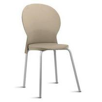 Cadeira Luna Fixa Assento E Encosto Em Polipropileno Areia