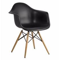 Conjunto 2 Cadeiras Charles Eames Wood Daw Com Braços Design