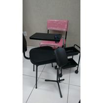 Cirandinha Manicure + Cadeira Cliente + Tripe + Carrinho