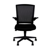Cadeira Office C/ Braços Encosto Tela Assento Tecido Mesh