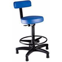 Cadeira Mocho Alto Para Utilizar Com Maca Base Preta