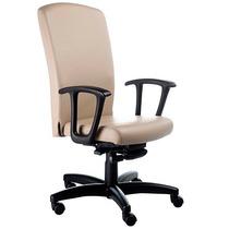Cadeira Presidente St Office, Apoia Braços Fixo, Base Rhodes