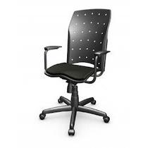 Cadeira Ergoplax Presidente C/ Braço E Relax Cor Preta