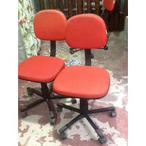 Cadeira Secretaria Vermelha - Lote 08 Pecas Desmontadas
