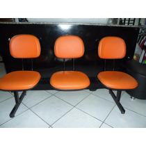 Cadeira Longarina 3 Lugares Seminova Pronta Entrega Só R$ 99
