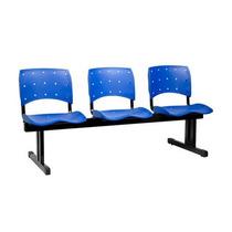 Cadeira Longarina Ergonômica Polipropileno 3 Lugares