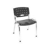 Cadeira Fixa Empilhavel Para Igreja C/pintura Cromada