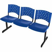 Cadeira Longarina Polipropileno 3 Lugares