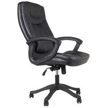 Cadeira Executiva Presidente Com Relax Couro Sintético Preto