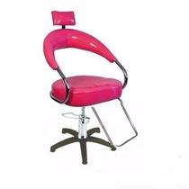 Poltrona Hidraulica Cabeleireiro P/salão De Beleza Pink