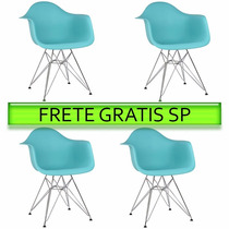 Cadeira Charles Eames Dar Kit 4 Cadeiras Frete Grátis Sp