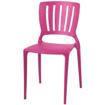 Cadeira Tramontina Sofia Encosto Vazado Rosa