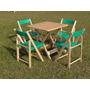 Jogos Mesas Bar 70x70 4 Cadeiras Dobrável Madeira Mada Verde