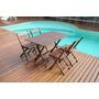 Conjunto De Cadeira E Mesa Dobrável Em Madeira 120x70