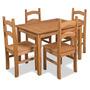 Jogo Mesa Com 4 Cadeiras Cancun Em Madeira Maciça | Empório