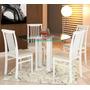 Conjunto Base+ 4 Cadeiras Laca Branco