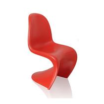 Cadeira Em Polipropileno Panton Fosca Vermelha