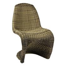 Cadeira Panton Em Ratan Sintético - Promoção 12x Sem Juros