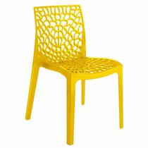 Cadeira Gruvyer Amarela Italiana Polipropileno