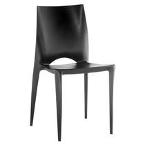 Cadeira Daiane Preta. Polipropileno C/ Fibra De Vidro