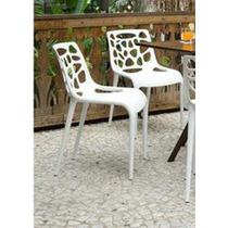 Cadeira Giovana Branca. Polipropileno Com Fibra De Vidro