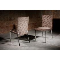 Cadeiras Escall Requinte Móveis. Estofadas E Aço Inox