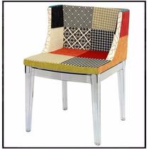 Cadeira Mademoiselle Mix Patch Work Base Policarbonato