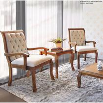 Cadeira Decorativa Sofia Madeira Demolição Kit C/2 Mobillare