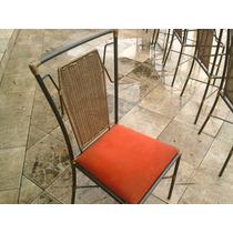Cadeira Em Ferro Com Junco Sintetico