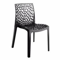 Cadeira Gruvyer Preta Italiana Polipropileno