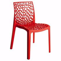Cadeira Gruvyer Vermelha Italiana Polipropileno