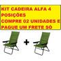 Cadeira Alfa 04 Posições Verde - 02 Unidades