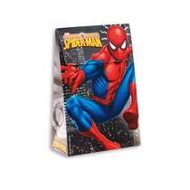 10 Mini Caixa Trapézio Homem Aranha, Tema Aniversário Sacola
