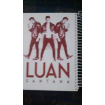 Caderno Luan Santana 1 Materias Com Figurinhas